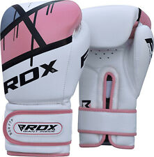 RDX Ladies Pink Gel Boxing Gloves Bag MMA Womens Gym Kick Pads Mitts Muay Thai V
