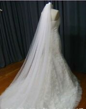 new 3M Cathedral Long Ivory white Wedding Bridal Bride Veil 2 Tier 2T with comb