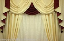 "SWAGS AND TAILS + CURTAINS SETS, FITS WINDOWS 45-60"" (115-152cm) WIDE, BE QUICK"