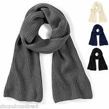 Metro Scarf Knit Warm Winter Mens Ladies Unisex Smart Long Knitted Soft Ribbed