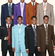 New Mens' 4 Button Fashion Suit( Free Matching+Woven Vest+Tie+Hanky Sty 6903v