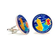 USA coin cufflinks state quarter choice of US Territory