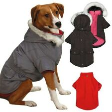 ESKIMO JACKET 3 in 1 All Weather Dog Coat w Fur Trim Hood Removable Fleece Liner
