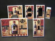 TUSCAN  WINE AND GRAPE FLEUR DE LIS IMAGE 21  LIGHT SWITCH COVER PLATE OR OUTLET