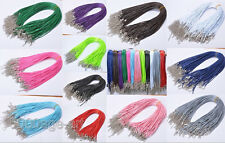 10/50/100pcs Lobster Clasp Korea Wax Cords Line Cord Necklace 1.5mm 2.0mm