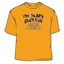 Scary Enough, halloween t-shirt, tee, costume, funny, spooky, pumpkin