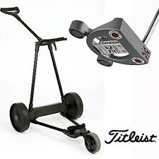 eMotion e3 Electric Pull Push Golf Cart + Titleist Scotty Cameron FuturaX Putter