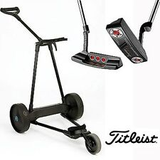 eMotion e3 Electric Pull Push Golf Cart + Titleist Scotty Cameron Select Putter