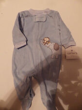 NWT~Carters Infant Boys Footed Outfit, Light Blue