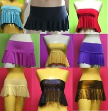 Hip Hugger Flounce Micro Mini Skirt Top Beach School Girl Dancer Clubwear