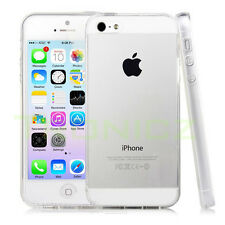 CLEAR Soft Transparent TPU Silicon Gel Case Cover iPhone 5 5S  FREE Protector
