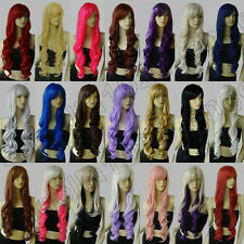 16 color heat resistant 32 in. long 80cm Spiral Curly cosplay wig Free Shipping