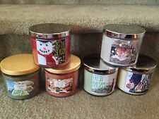 Bath & Body Works Slatkin 14.5 oz. 3-wick Candle - You Pick Winter Scent
