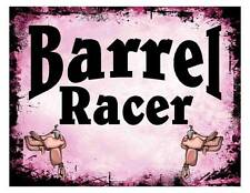 Custom Made T Shirt Barrel Racer Saddle Rodeo Western Cowgirl Grunge Awesome