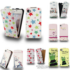 Stylish PU leather flip case cover for Apple iPhone 5C + free screen protector