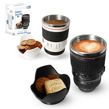 GENUINE TWITFISH CAMERA LENS MUG STAINLESS STEEL THERMOS LINED - NOVELTY GIFT
