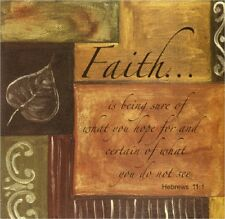 FAITH QUOTE HEBREWS 11:1 PATCHWORK  IMAGE  COASTER SETS U PICK SET SIZE