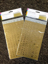 Childrens Kids Gold and Silver Numbers or Letters Stickers Art Craft Card Making