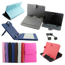 """Universal USB Keyboard Or PU Leather Case For Android Tablet 7"""" 8"""" 9"""" 9.7"""" 10.1"""""""