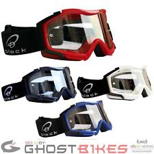 BLACK ROCK MOTOCROSS MOTO-X MX RACING PIT BIKE DIRT RIDER GOGGLES GHOSTBIKES