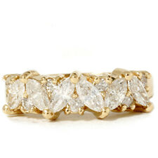WOMENS 1.65CT DIAMOND WEDDING ANNIVERSARY MARQUISE RING 14K YELLOW GOLD VINTAGE