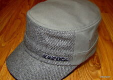 Kangol  Headwear  Wool  Flexfit  Textured  Army  Cap  Color  Flannel Grey