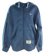 Gola Gsb6141 Boy's Blue Marl Zip Up Front Drawstring Hooded Sweater New