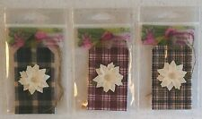 Homespun Fabric Poinsettia Flower Holiday Collection Tags Crafts  Embellishments