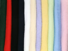 """60"""" wide Cotton Loop Double Sided Towelling Fabric - Full Range of Colours"""