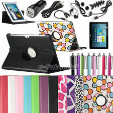 Rotating PU Leather Case Cover for Samsung Galaxy Tab 2 10.1 P5100 w/Accessories