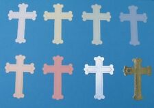 24 Small Cross Die-Cuts Baby Christening First Communion Religious Wedding Cards