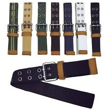 Men's Boy's GB02 Influx Of Casual Canvas Double Pin Buckle Belts 110cm 7color