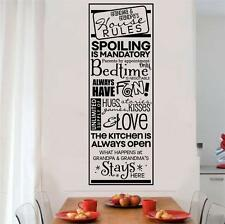 Grandparents House Rules Vinyl Wall Decals Sticker Words Letter Quote Decor Gift