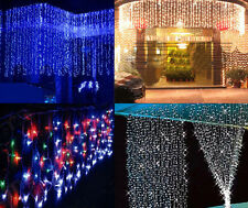 320/1000 LED waterfall CURTAIN Lights String Outdoor Party Decoration Christmas