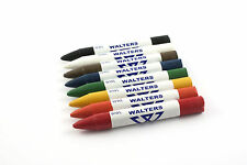 Walters WWL Warehouse Crayons for Paper, Card and Leather. All Colours, Box 12