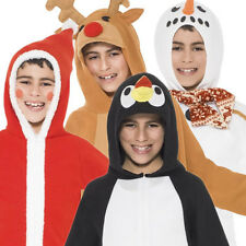 Christmas Onesies Ages 4-12 Boys Fancy Dress Childs Kids Xmas Present Costume