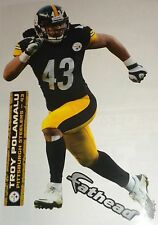 """Pittsburgh Steelers FATHEAD Official NFL Vinyl Wall Graphics 11"""" INCH - PICK ONE"""