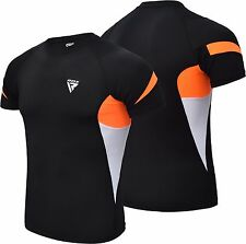 RDX MMA Rash Guard Armour Base Layer Compression Shirt Weight Loss Running Gym O