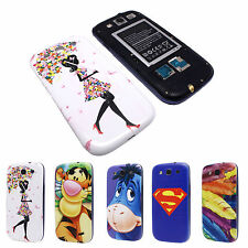 Animals Feather Replace Back Battery Door Cover Case for Samsung i9300 Galaxy S3