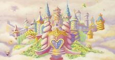 girls room or nursery magical princess castle poster wall art PERSONALIZE FREE