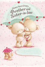 brother and sister-in-law cute general wedding anniversary card