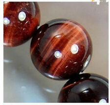 """6-10mm African Roar Natural Red Tiger's Eye Round Loose Beads 15"""""""