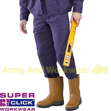 Work Trouser - Super Click - Men tough Smart Sewn in crease pants wear 4 pockets