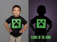 AUTHENTIC MINECRAFT CREEPER GLOW IN THE DARK YOUTH CHILD KIDS VIDEO GAME T SHIRT