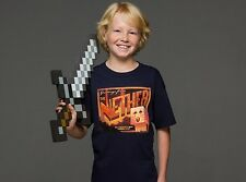 AUTHENTIC MINECRAFT NETHER POSTCARD YOUTH TEE STEVE CREEPER SHIRT S-XL