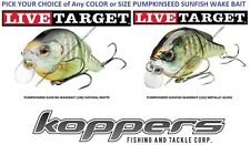 Koppers Live Target Pumpkinseed Wake Bait Any Size Matte Gloss Sunfish PSW Lure