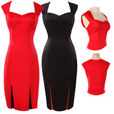 GK Vogue Ladies 50s Retro Slim Fitted Pinup Bodycon Party Prom Work Pencil Dress
