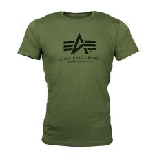 ALPHA Industries Basic T-Shirt Logoprint olive Gr.S - 5XL