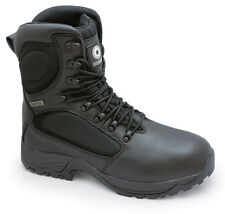 LAMBRETTA WATERPROOF STEEL TOE SAFETY COMBAT S3 WORK BOOTS Black