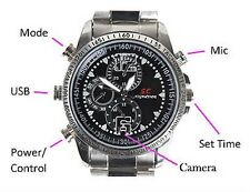 Mini Camera HD Waterproof Hidden Video SPY Recorder DV Watch Wrist DVR 4/8G/16GB